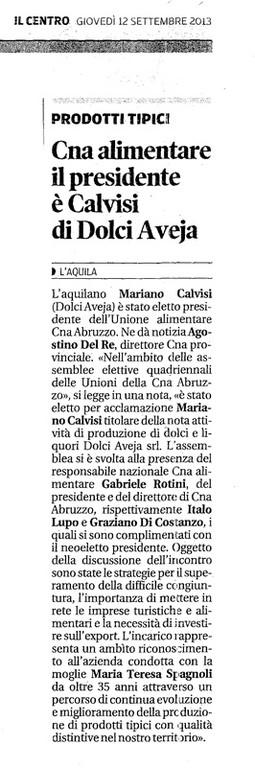 Dal Centro Presidente Calvisi