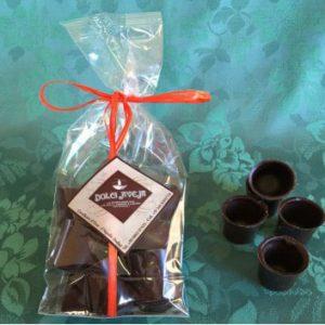 PETITS VERRES de chocolat noir 100 gr