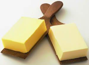 Panetto di Burro e margarina a confronto
